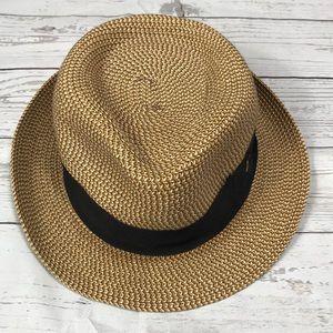 Disney Parks Straw Fedora Hat